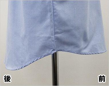 FB4510U FACEMIX オックスシャツ/長袖(男女兼用)無地ボタンダウン 後ろ側がより長め