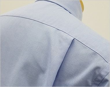 FB4510U FACEMIX オックスシャツ/長袖(男女兼用)無地ボタンダウン 動きやすいタック入り