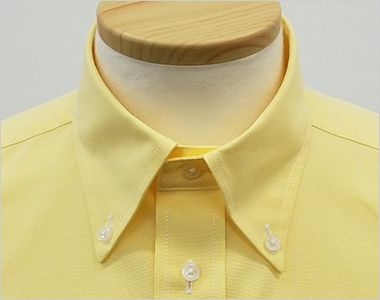 FB4511U FACEMIX オックスシャツ/半袖(男女兼用)無地ボタンダウン きちんとした印象のボタンダウンの襟元