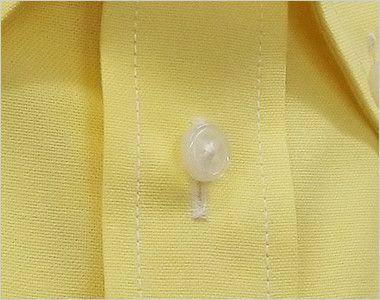 FB4511U FACEMIX オックスシャツ/半袖(男女兼用)無地ボタンダウン ボタン部分