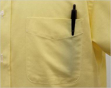 FB4511U FACEMIX オックスシャツ/半袖(男女兼用)無地ボタンダウン ポケット付き