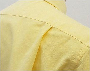 FB4511U FACEMIX オックスシャツ/半袖(男女兼用)無地ボタンダウン 動きやすいタック入り