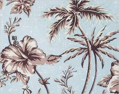 FB4524U FACEMIX アロハプリントポロシャツ(男女兼用)ボタンダウン 華やかに彩る繊細で小柄なアロハ柄