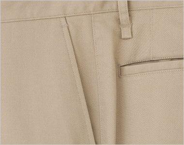 FP6310L ナチュラルスマイル ストレッチスタンダードチノパン(女性用) 斜めポケット