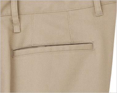 FP6310L ナチュラルスマイル ストレッチスタンダードチノパン(女性用) 片玉縁ポケット