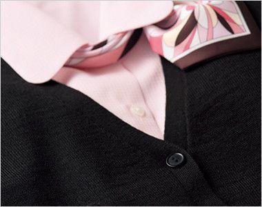 BONMAX KK7122 [秋冬用][厚さ:中]絶妙な丈感で体型カバーする着回ししやすい定番カーディガン シンプルだから出来る華やかコーディネート