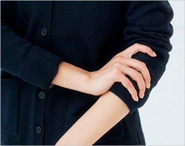 BONMAX KK7122 [秋冬用][厚さ:中]絶妙な丈感で体型カバーする着回ししやすい定番カーディガン リブ仕様