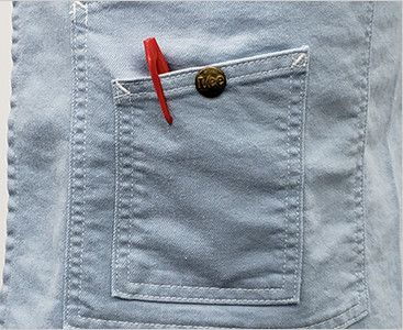 LCK79004 Lee ミドルエプロン(男女兼用) 小さなポケットにはLeeオリジナルボタン