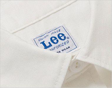 LCS43005 Lee シャンブレーシャツ/半袖(女性用) Leeワークウェアオリジナルネームタグ付き
