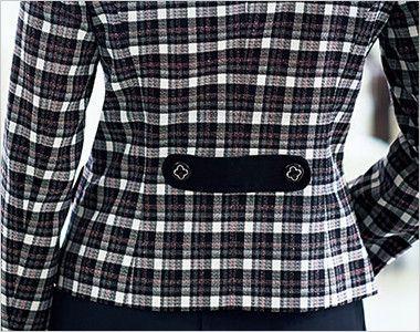 BONMAX LJ0162 [通年]フェリーチェ ツイードジャケット チェック かわいい飾りベルト付き