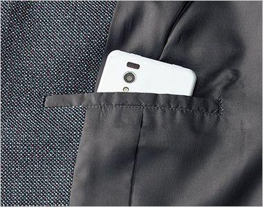 BONMAX LJ0164 [通年]エミュ ペッパーツイード素材ジャケット チェック 内ポケット