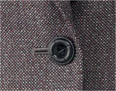 BONMAX LJ0164 [通年]エミュ ペッパーツイード素材ジャケット チェック ボタン部分
