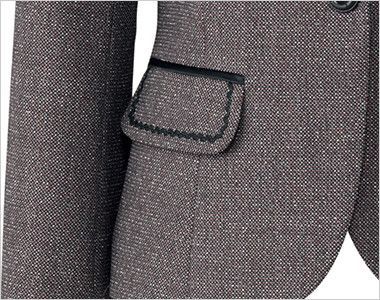 BONMAX LJ0164 [通年]エミュ ペッパーツイード素材ジャケット チェック フラップポケット