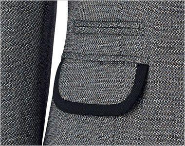 BONMAX LJ0165 [通年]プリエール ジャケット グレイのラメ入りツイード フラップポケット(右脇チェンジポケット付き)