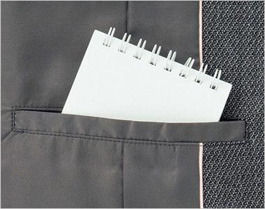 BONMAX LJ0165 [通年]プリエール ジャケット グレイのラメ入りツイード 内ポケット