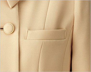 [在庫限り/返品交換不可]BONMAX LJ0167 [通年]カルム ロールカラージャケット 無地 ポケット付き