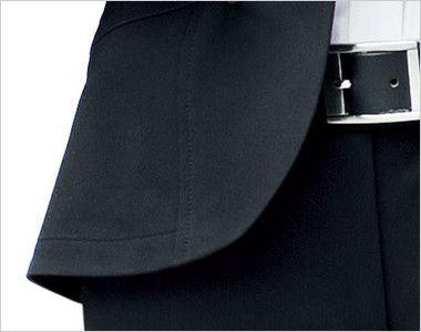 LJ0737 BONMAX/フレキシー ニットジャケット 無地 ウエスト周りを締め付けない裾部分