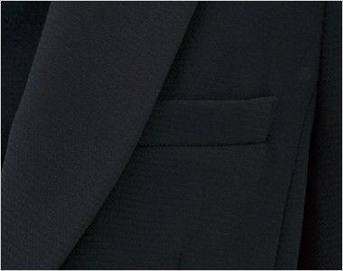 LJ0742 BONMAX/ベルタ テーラードジャケット 無地 ポケット付き