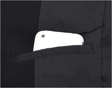 LJ0742 BONMAX/ベルタ テーラードジャケット 無地 内ポケット