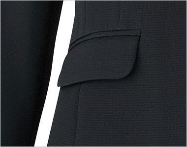 LJ0742 BONMAX/ベルタ テーラードジャケット 無地 フラップポケット