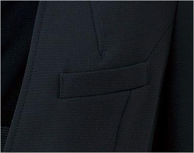 LJ0743 BONMAX/ベルタ スタンドカラージャケット 無地 ポケット付き