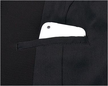 LJ0743 BONMAX/ベルタ スタンドカラージャケット 無地 内ポケット