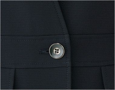 LJ0743 BONMAX/ベルタ スタンドカラージャケット 無地 ボタン部分