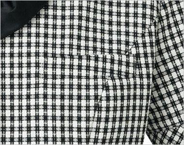 BONMAX LJ0745 [春夏用]アミティエ オーバーブラウス チェック ポケット付き