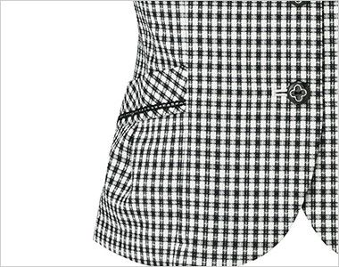 BONMAX LJ0745 [春夏用]アミティエ オーバーブラウス チェック 挟み込みポケット