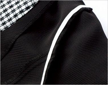 LJ0746 BONMAX/アミティエ ソフトジャケット 無地×チェック アームホールの消臭テープ