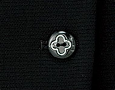 LJ0746 BONMAX/アミティエ ソフトジャケット 無地×チェック ボタン部分