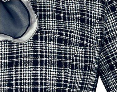 [在庫限り/返品交換不可]LJ0752 BONMAX/プランセス ソフトジャケット(シフォンリボン付き) チェック ポケット付き