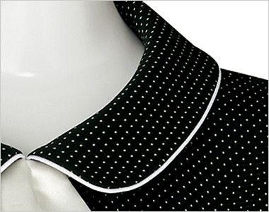 [在庫限り/返品交換不可]LJ0754 BONMAX/コンフィー ソフトジャケット(サテンリボン付き) ドット パイピングを施した襟部分