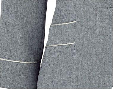 BONMAX LJ0759 [春夏用]プラティーヌ ジャケット 無地 挟み込みポケット