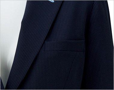BONMAX LJ0762 [春夏用]レジェール 七分袖テーラードジャケット ストライプ ポケット付き