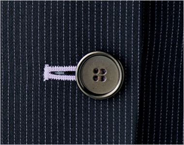 BONMAX LJ0762 [春夏用]レジェール 七分袖テーラードジャケット ストライプ ボタン部分