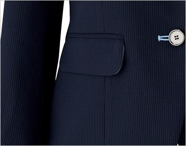 BONMAX LJ0762 [春夏用]レジェール 七分袖テーラードジャケット ストライプ フラップポケット