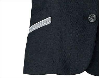 BONMAX LJ0766 [春夏用]グランツ オーバーブラウス ボーダー 挟み込みポケット