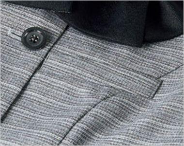 BONMAX LJ0767 [春夏用]グランツ オーバーブラウス ボーダー ポケット付き