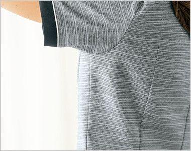 BONMAX LJ0767 [春夏用]グランツ オーバーブラウス ボーダー 動きやすい袖のパターン設計