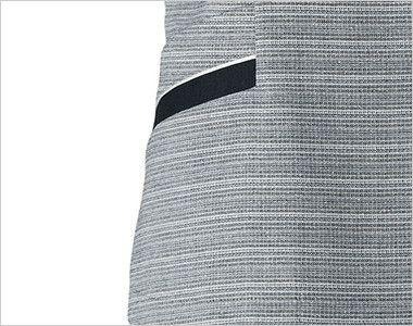 BONMAX LJ0767 [春夏用]グランツ オーバーブラウス ボーダー 挟み込みポケット