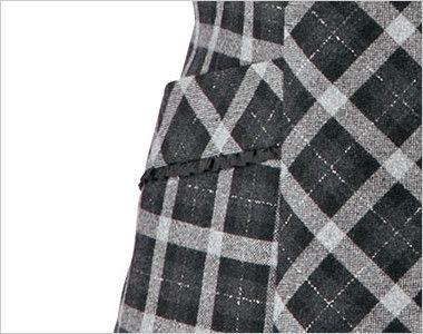 BONMAX LV1170 [通年]アウトラストA ベスト チェック 挟み込みポケット(右側小分けポケット付き)