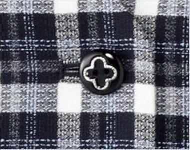 BONMAX LV1171 [通年]フェリーチェ ベスト チェック ボタン部分