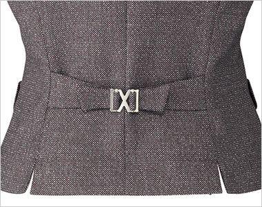 BONMAX LV1172 [通年]エミュ ベスト 無地 背ベルト付き
