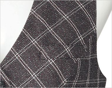 BONMAX LV1173 [通年]エミュ ベスト チェック ポケット付き
