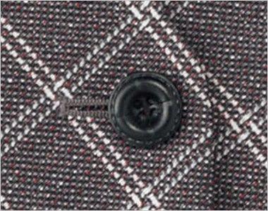 BONMAX LV1173 [通年]エミュ ベスト チェック ボタン部分