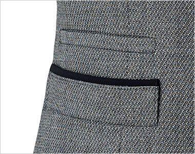 BONMAX LV1174 [通年]プリエール ベスト ツイード 箱ポケット(右脇スマホポケット付き)