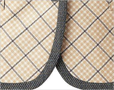 BONMAX LV1175 [通年]プリエール ベスト チェック 丸みを帯びた女性らしい印象の裾部分