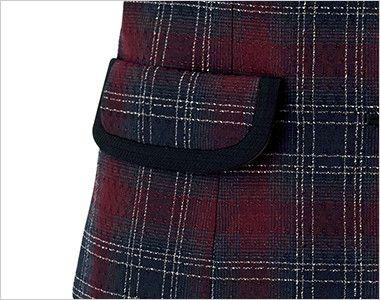 BONMAX LV1177 [通年]シャンテ ベスト 洗濯OK チェック 箱ポケット