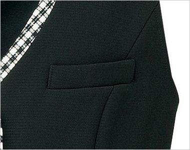 BONMAX LV1741 [春夏用]アミティエ ベスト 無地×チェック ポケット付き